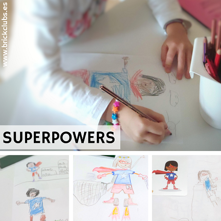 SUPERPOWERS CREATIVIDAD INFANTIL BRICK CLUBS